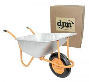 DJM Brouette de jardin en métal robuste avec pneu 90litre/180kg de la marque DJM Direct image 0 produit