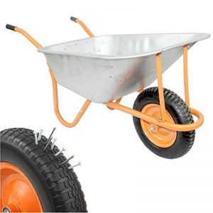 DJM Brouette de jardin en métal robuste avec pneu anti-crevaison 90litre/180kg de la marque DJM Direct image 0 produit