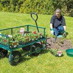 Draper Chariot de jardin acier grillagé vert de la marque Draper image 4 produit
