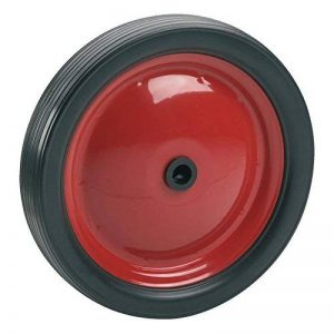 dörner + helmer 709312PVC Moyeu de roue avec jante en acier rouge et profil rainuré 180x 30x 12mm Largeur 35mm de la marque Dörner+Helmer image 0 produit