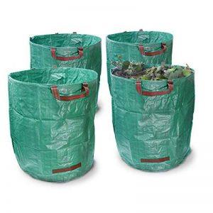 ECD Germany 4 x Sacs à déchets de jardin Sacs de jardin pour les feuilles Pliables 270L 67 x 76cm de la marque ECD-Germany image 0 produit