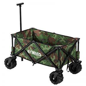 Enkeeo Chariot à Main Pour Camping Chariot Pliable Facile à Porter Remorque d'Extérieur Pour Bricolage Plage Pique-Nique de la marque ENKEEO image 0 produit