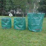 Feuilles Feuille Sac 120L Poubelle Seau de jardinage Aste Sacs pliable et réutilisable Heavy Duty Gazon très solide résistant à la déchirure Sacs avec poignées le meilleur pour arbres plantes fleurs mauvaises herbes haies arbustes Poubelle léger de rempot image 1 produit
