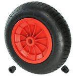 First4spares - Roue complète 3.50-8 35cm, chambre à air, pneu & bagues de réduction d'axe 13mm pour brouette / go cart / remorque (rouge, lot de 1,2,4,6 ou 8) - Rouge de la marque First4spares image 1 produit