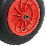 First4spares - Roue complète 3.50-8 35cm, chambre à air, pneu & bagues de réduction d'axe 13mm pour brouette / go cart / remorque (rouge, lot de 1,2,4,6 ou 8) - Rouge de la marque First4spares image 2 produit