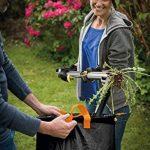 Fiskars Sac à végétaux pliable avec poignées, Capacité: 56 litres, Noir/Orange, Solid, 1015646 de la marque Fiskars image 1 produit