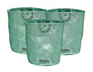 FiveSeasonStuff 3 sacs de déchets de jardin (272 litres), grand lourds devoir double coudre réutilisables sacs avec arceau de stabilisation flexible de la marque FiveSeasonStuff image 0 produit