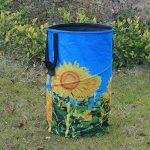 FLORA GUARD Sac de jardin de 32 gallons - sac de jardinage réutilisable , sac à déchets portatif en toile pliable imprimé fleur de soleil de la marque FLORA GUARD image 4 produit