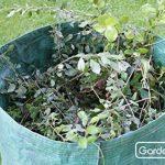GardenMate® Lot de 2 sacs de jardin 400L PROFESSIONAL en polypropylène robuste (PP) de la marque GardenMate® image 2 produit