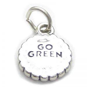 Go vert en argent 925/1000–ECO réutilisation réduire CF4956 recyclage charms de la marque Maldon Jewellery image 0 produit