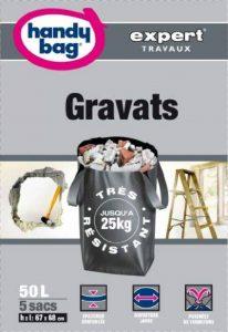 Handy-Bag Expert, 3557880352349 Sacs spécial travaux, SACS GRAVATS 50L x 5 sacs de la marque Handy-Bag Expert image 0 produit