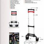 HERZO Chariot De Manutation Diable Pliable Charge Maximale 70 kg Diable pliant de la marque HERZO image 4 produit