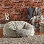 Icon Chaise Pouf de luxe grande taille en Fausse Fourrure douce Pouf luxueux énorme pour adulte en Fourrure - XL Pouf Poire Adulte (Gris) de la marque Icon image 3 produit