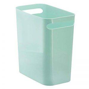 InterDesign Una corbeille à papier, poubelle en plastique avec poignées, conteneur à papier pour bureau, cuisine ou salle de bain, vert menthe de la marque InterDesign image 0 produit