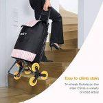 INTEY Poussette de Marché escalier, chariot de course 6 roues, un siège pliable intégré, 38L. de la marque INTEY-FR image 4 produit