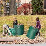 JTDEAL 3Pcs Sac à Déchets de Jardin 300L, Sac à Végétaux Hydrofuge, Résistant aux UV et Résistant à la Déchirure pour le Jardin et la Tonte de la Pelouse (Vert) de la marque jtdeal image 4 produit
