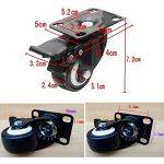 JZK 4 x Noir lourd 50mm Roues pivotantes en PU chariot roulette de meubles roue de chariot industriel de la marque JZK image 1 produit