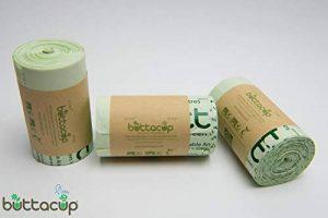 Lot de 150sacs de poubelles de Buttacup - 6litres - Compostables - Pour les déchets alimentaires - 3rouleaux de 50 sacs de la marque Buttacup image 0 produit