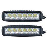 Lot de 2 lampes LED SLPRO®, 18w, 12 V 24 V, IP67, noir, pour phare, projecteur (90°), feu supplémentaire tout terrain, éclairage de voiture, pour véhicules tout-terrain, SUV, 4X4 de la marque SLPRO image 3 produit
