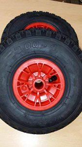 Lot de 2Sac Roue de brouette Jante en PVC, pneus 3.00–4,–rlw. Chimie Bras Norme Européenne. de la marque Unbekannt image 0 produit