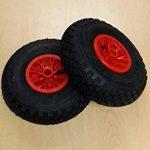 Lot de 2Sac Roue de brouette Jante en PVC, pneus 3.00–4,–rlw. Chimie Bras Norme Européenne. de la marque Unbekannt image 1 produit