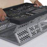 Lot de 5x 45litre Extra Fort pliable Boîtes de rangement caisses empilables–45kg Capacité de charge par boîte–Poignées souples–Bon Rapport Qualité/prix de la marque Keeeper image 1 produit