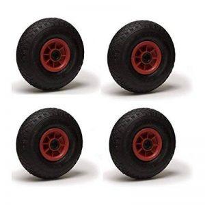 Lot de quatre roues gonflables pour chariot 3.00-4 (2PR) 260 x 85 Alésage 20 de la marque Roues-et-Roulettes.com image 0 produit