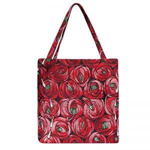 Mackintosh Rose et en forme de larme Grand sac Eco en Signare | pour femme Design Art Floral Vert recyclage Tissu pliable Sac à main | 41x 44x 1cm | (Bgeco-rmtd) de la marque Signare image 0 produit