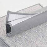 mDesign Étagère suspendue pour porte-monnaie, sac à main, chaussures, etc. – lot de 2 avec 10 poches – sac de rangement suspendu idéal en tissu – le parfait rangement suspendu – couleur : gris de la marque MetroDecor image 3 produit