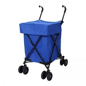 Meditool Chariot de Courses Pliable 88L, Caddie Course 4 roues Charge 75KG, Bleu de la marque Meditool image 0 produit