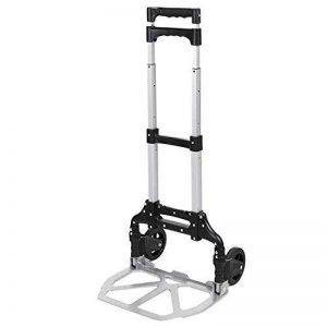 Meditool Chariot Diable Pliable Charge 70kg Chariot de Transport À Roulette avec Poignée Extensible en Aluminium, Argent de la marque Meditool image 0 produit