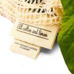 MEILLEURS RÉUTILISABLES SACS DE PRODUCE pour l'épicerie et le stockage - Set de 3 (1 ea XL, L, M) pour la fraîcheur - sacs en coton organique de maille avec le cordon, poids de tare - Zéro déchets Shopping - lavable de la marque All Cotton and Linen image 3 produit