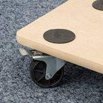 Meister 821400 Chariot à roulettes Plaque MDF Roues en PP Freins- 590 x 290 mm - 200 kg Freins de la marque Meister image 2 produit