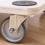 Meister 822130 Chariot à roulettes Contreplaqué, roues en PU, freins 590 x 490 mm - 200 kg de la marque Meister image 2 produit