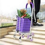 MEYLEE Chariot à achats léger d'alliage d'aluminium de 36L pliant la grande capacité de 8 roues Shopper - modèles à double usage de la marque MEYLEE image 4 produit