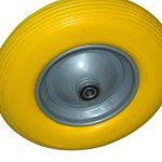 mlj Roue de rechange pour pneu de brouette en caoutchouc plein Brouette de jardin Pneu de brouette 4.80/4.00–8ø400Jaune (Deutschland entrepôt) de la marque MLJ image 2 produit