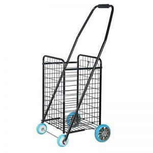 NAN Chariot de chariot de chariot à 4 roues de haute qualité avec la poignée réglable - grand Shopper avec les roues pivotantes à l'avant le rend léger et facile à utiliser et grand pour la mobilité noire de la marque TROLLEY image 0 produit