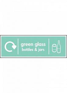 Nouvelle-Calédonie Signes 16641MélangeM pour pots & bouteilles en verre Vert recyclage Panneau, en plastique rigide, 600mm x 200mm de la marque Caledonia Signs image 0 produit