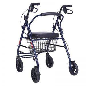 NQFL Chariots à Provisions Vieux Chariot Quatre Roues Old Man Panier Portable Panier Pliage,Black-48*52*100cm de la marque NQFL image 0 produit