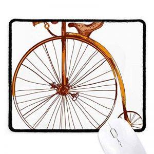 Old Fashioned Vélo haute Wheeler Grande-Bretagne antidérapant Tapis de souris de jeu Bureau Noir Titched Bords Cadeau de la marque DIYthinker image 0 produit
