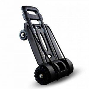 Petite remorque de voyage, chariot se pliant à quatre roues de chariot de chariot à bagages portant 75KG noir de la marque Chariot image 0 produit