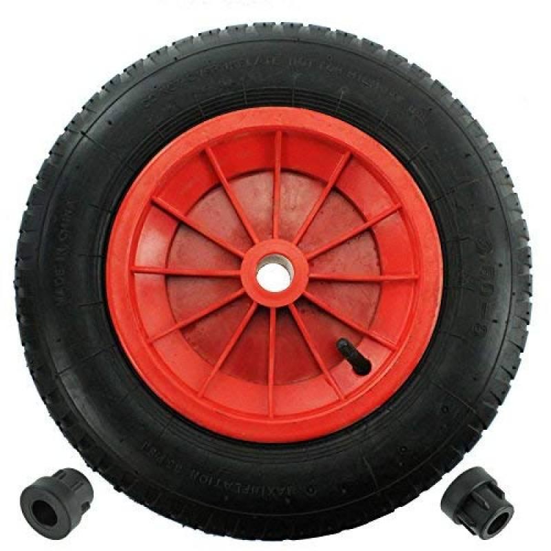 """Pu 16 /""""crevaison preuve roue pneumatique brouette rouge 4.80-8 poids léger en mousse"""