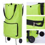 Portable Pliable Sac à provisions et à roulettes chariot tirer Package Shopping Sac de voyage réutilisable Vert Sac de shopping de la marque Acycee image 4 produit