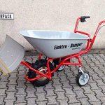 POWERPaC pelle 740 mm avec bande en acier inoxydable et adaptateur pour eD120 brouette à moteur aKKUSCHNEERÄUMER aKKUSCHNEESCHIEBER électrique de la marque PowerPac Baumaschinen GmbH image 1 produit