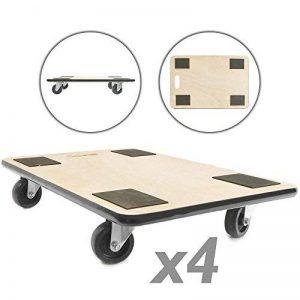 PrimeMatik - Plateforme de Chariot et Chargement avec roulettes 600 x 400 mm 4-Pack de la marque PrimeMatik.com image 0 produit