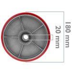 PrimeMatik - Roue pour transpalette Rouleau pour Palette en Polyuréthane 180x50 mm 900 Kg 2-Pack de la marque PrimeMatik.com image 1 produit