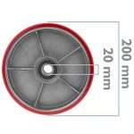 PrimeMatik - Roue pour transpalette Rouleau pour Palette en Polyuréthane 200x50 mm 950 Kg 2-Pack de la marque PrimeMatik.com image 1 produit