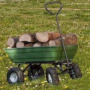 ProBache - Chariot remorque de jardin vert basculant de la marque Probache image 0 produit