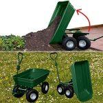 ProBache - Chariot remorque de jardin vert basculant de la marque Probache image 4 produit