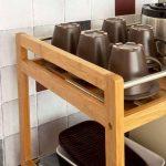 Promotion -15%! SoBuy® FKW11-N Table roulante Meuble de rangement à roulettes, Desserte de cuisine de service massif en bambou, Chariot de cuisine, salle de bains L46xP38cmxH76cm de la marque SoBuy image 3 produit